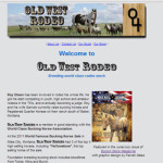 image of Old West Rodeo website